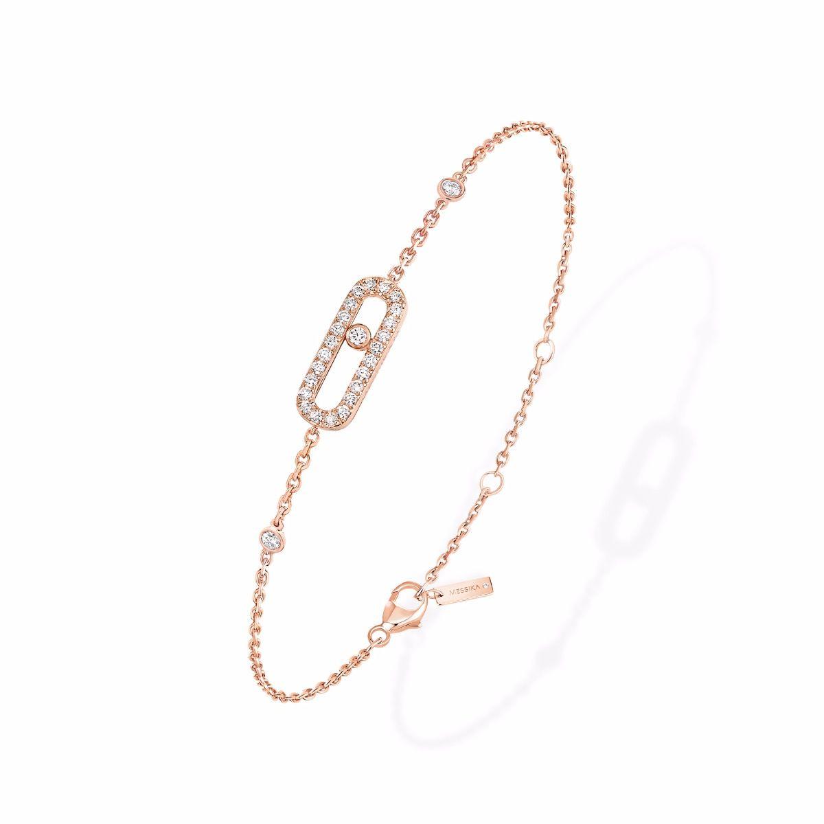 Move Uno Pavé Bracelet - Pink Gold