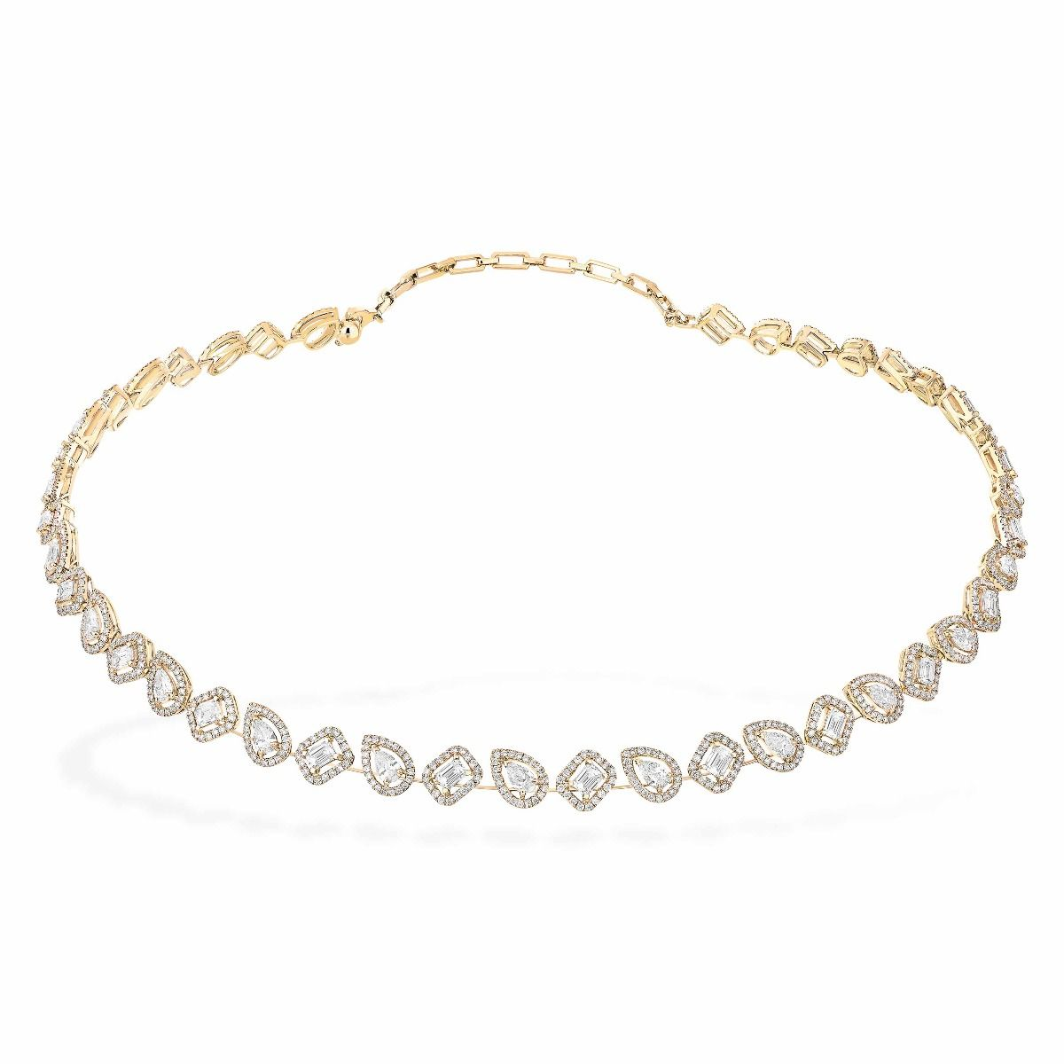 My Twin Skinny Rivière Necklace - Yellow Gold