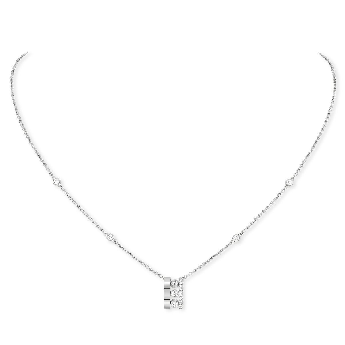 Move Romane Pendant Necklace - White Gold