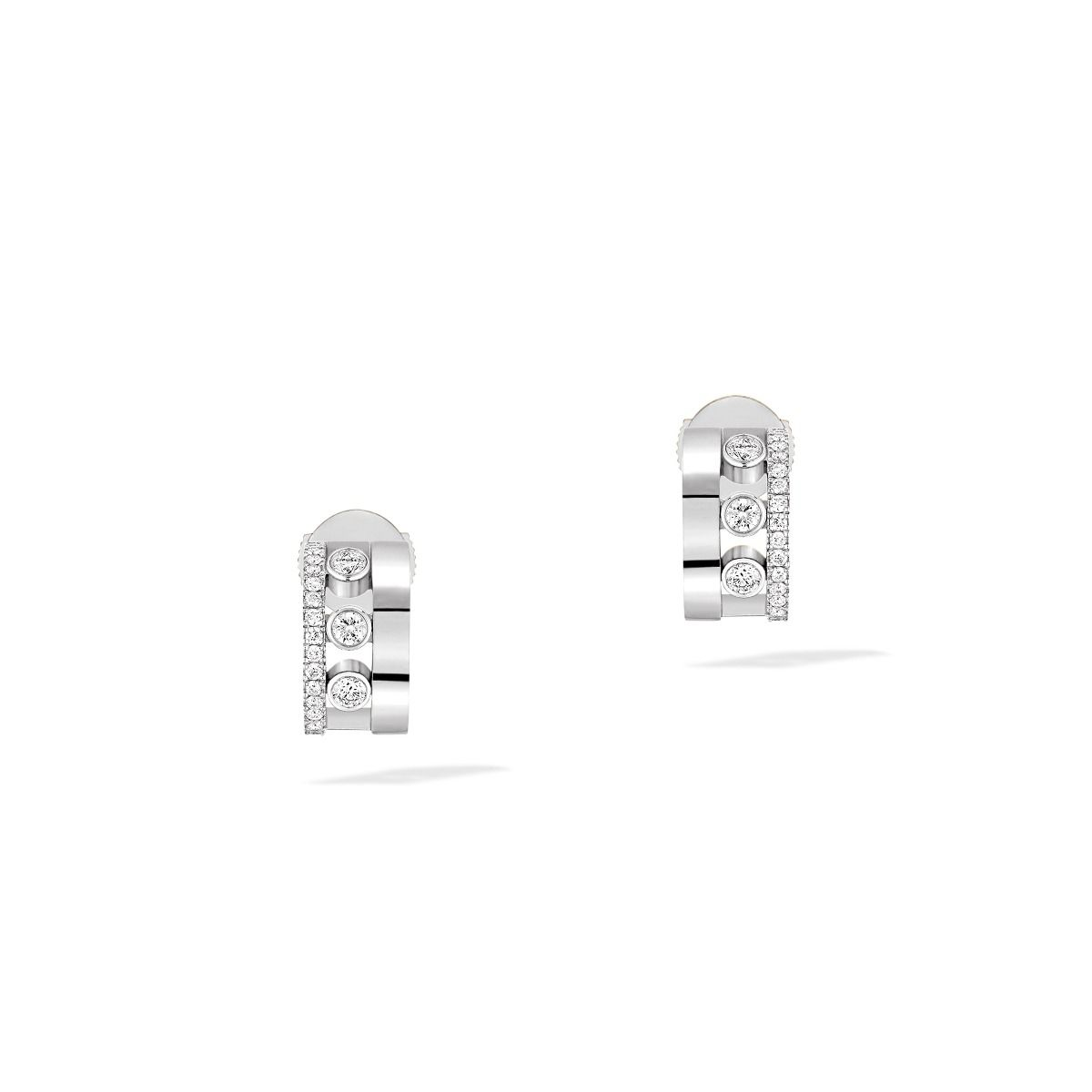 Move Romane Mini Hoops Earrings - White Gold