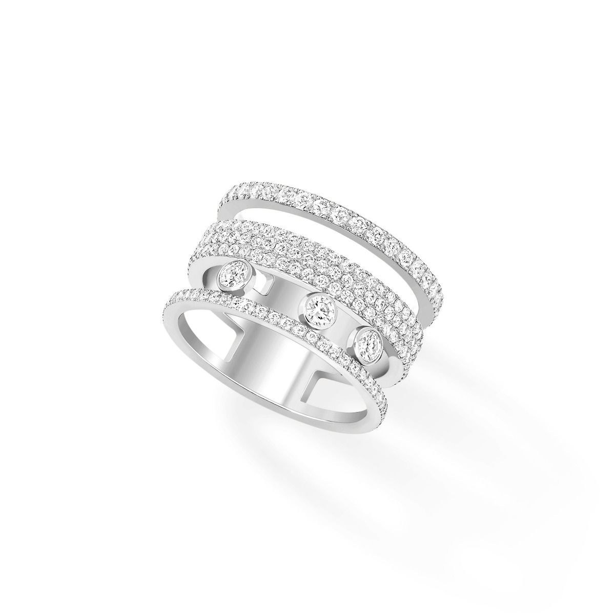 Move Romane Gm Pavé Ring - White Gold