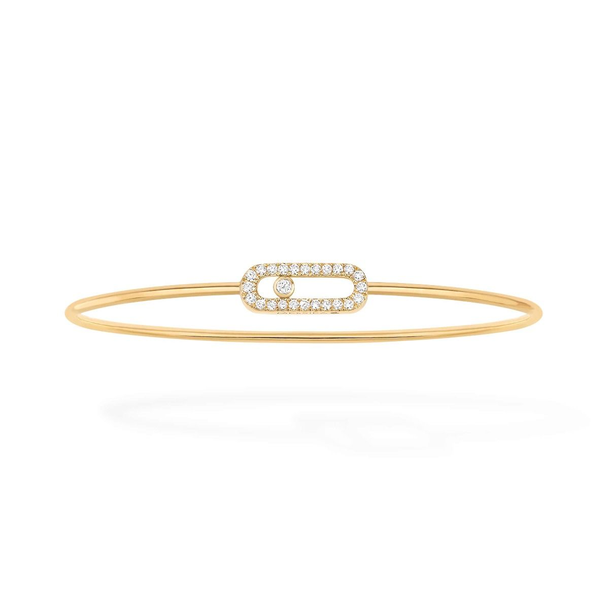 Move Uno Thin Bangle Bracelet - Yellow Gold