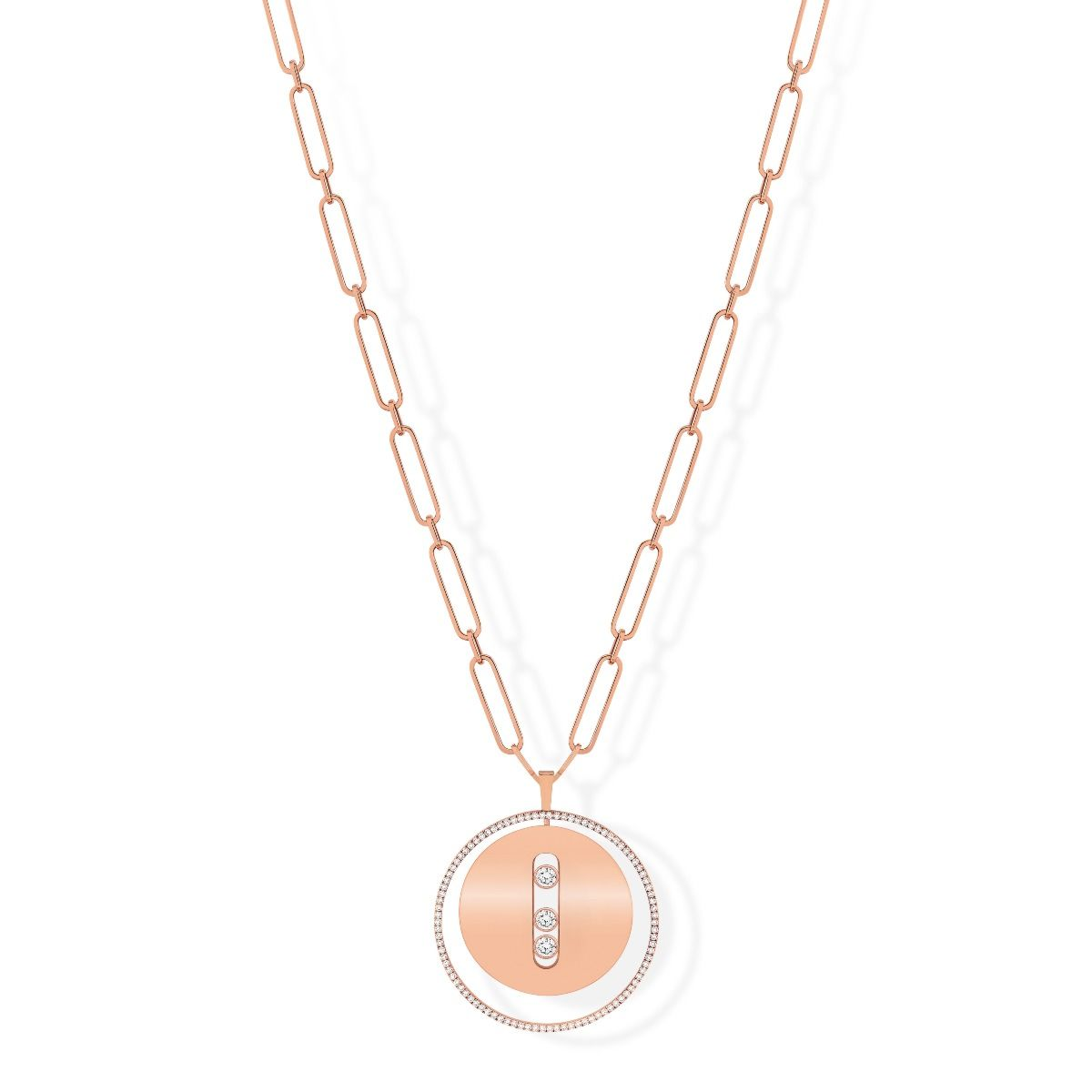 Lucky Move Long Necklace GM - PINK GOLD