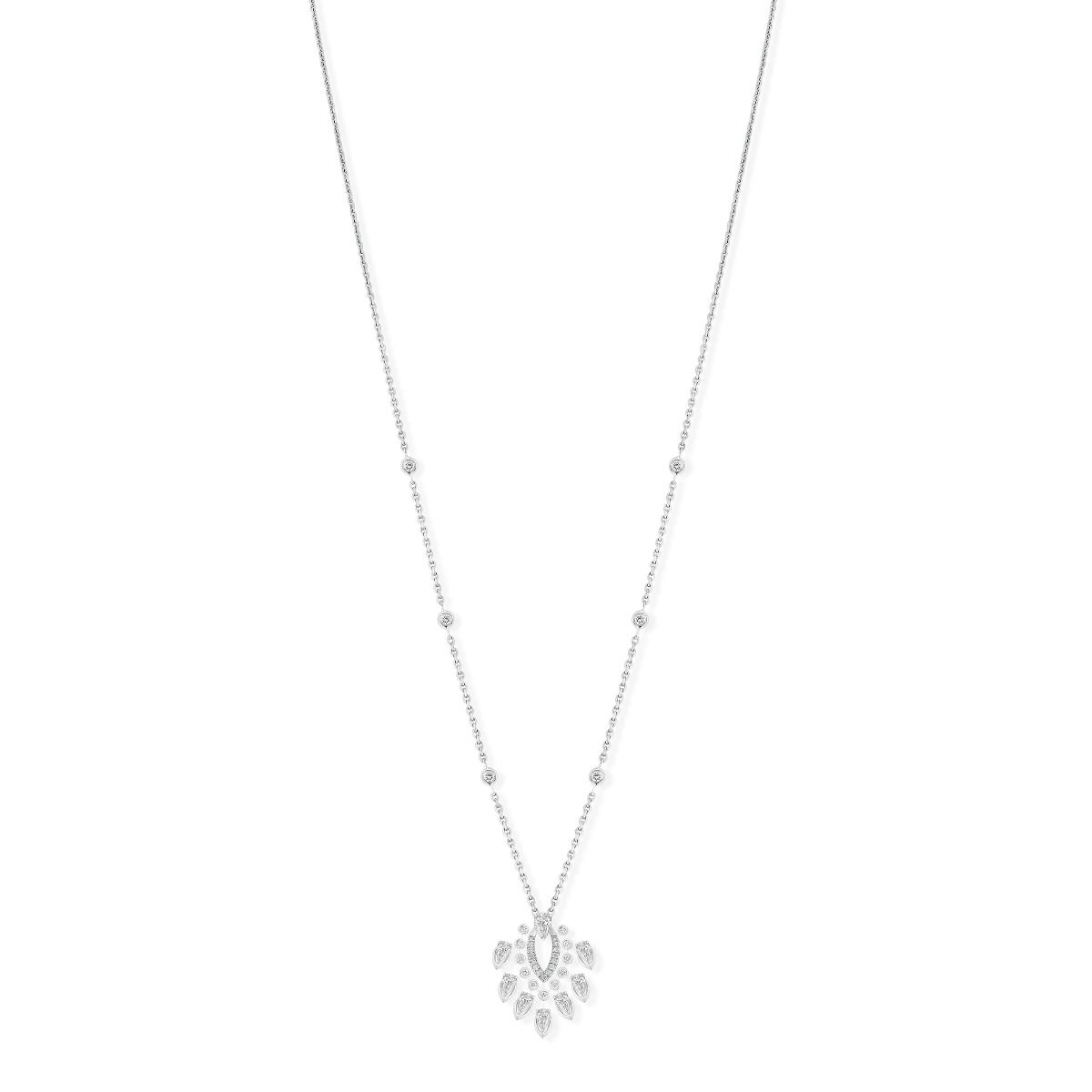 Pendant Desert Bloom Necklace - White Gold