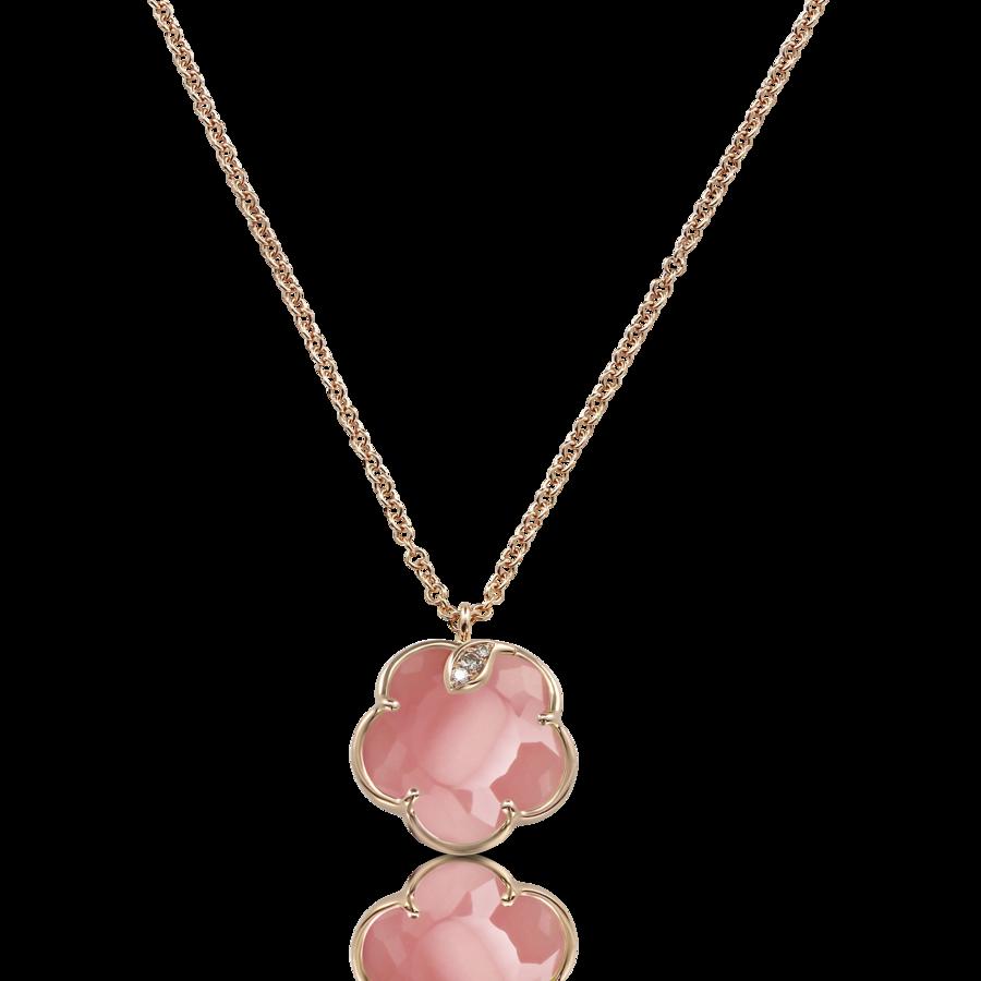 Necklaces Petit Joli' Pink Chalcedony