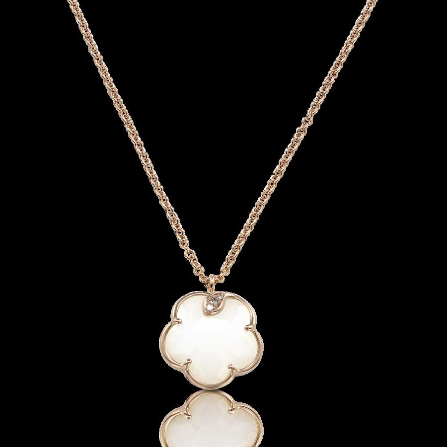 Necklaces Petit Joli' White Agate