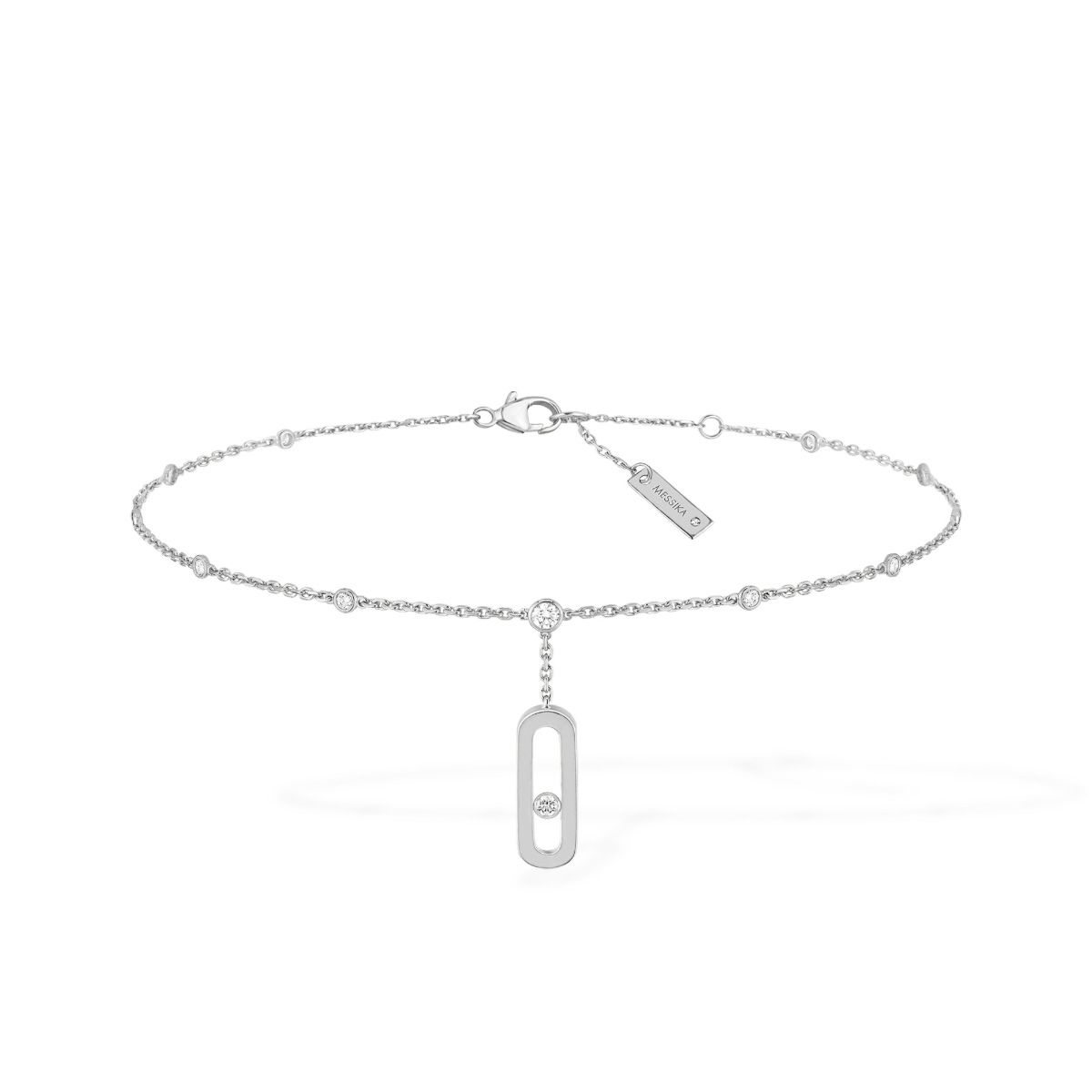 Move Uno Ankle Bracelet - WHITE GOLD