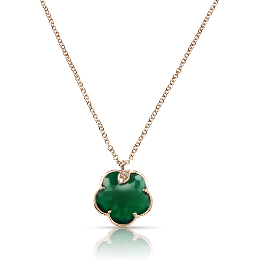 Necklaces Petit Joli' Green Agate