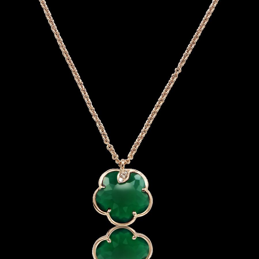 Necklaces Petit Joli' Green Agate