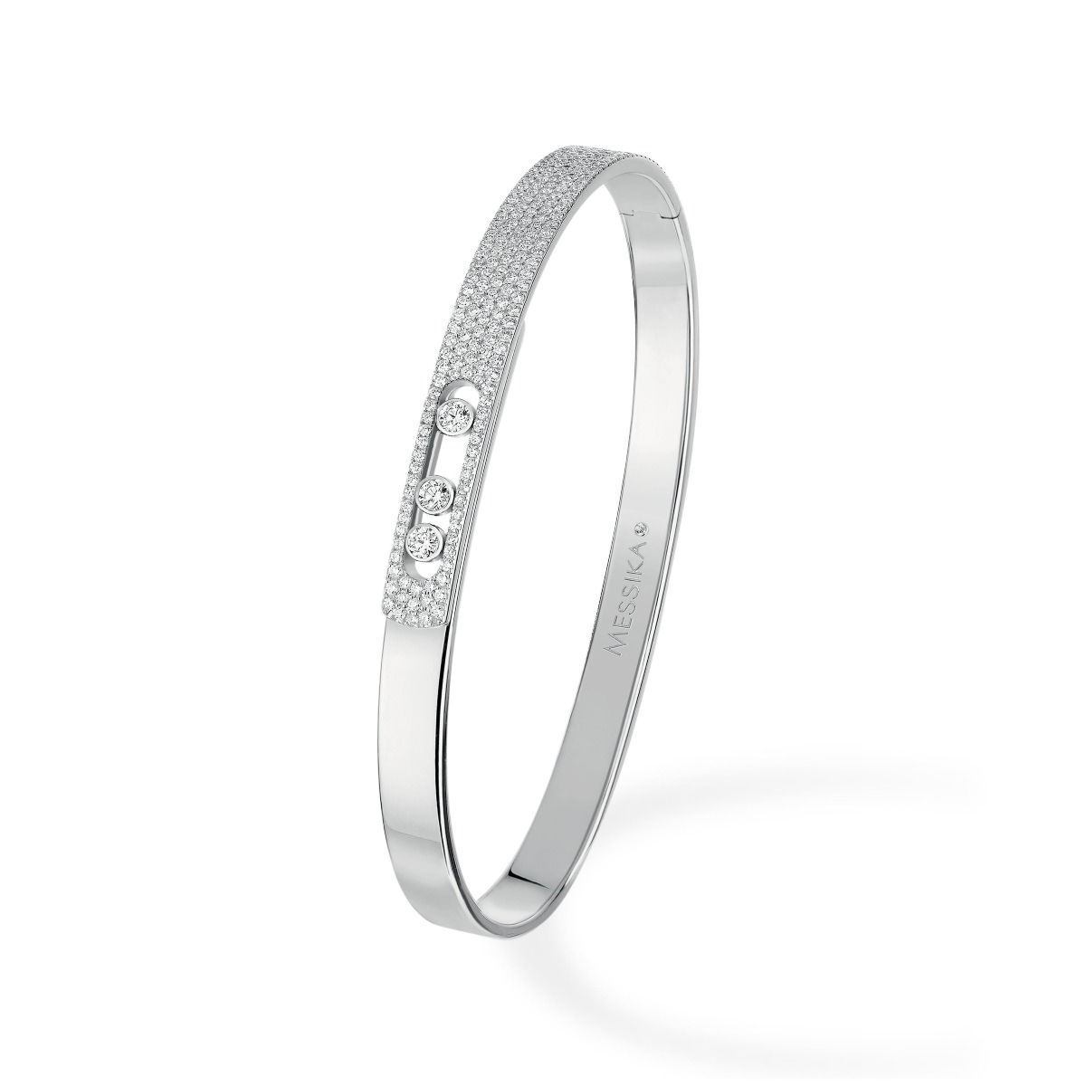 Move Noa Bangle PM Pavé BRACELET - WHITE GOLD