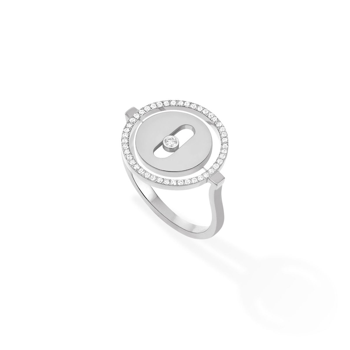 Lucky Move Pm Ring - White Gold
