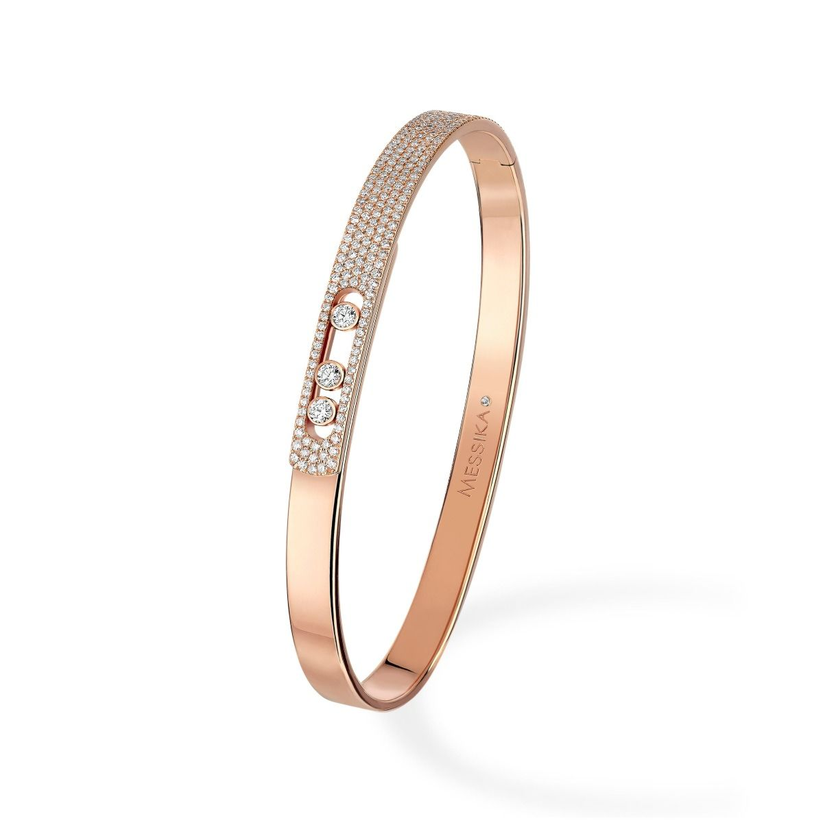 Move Noa Bangle PM Pavé BRACELET - PINK GOLD