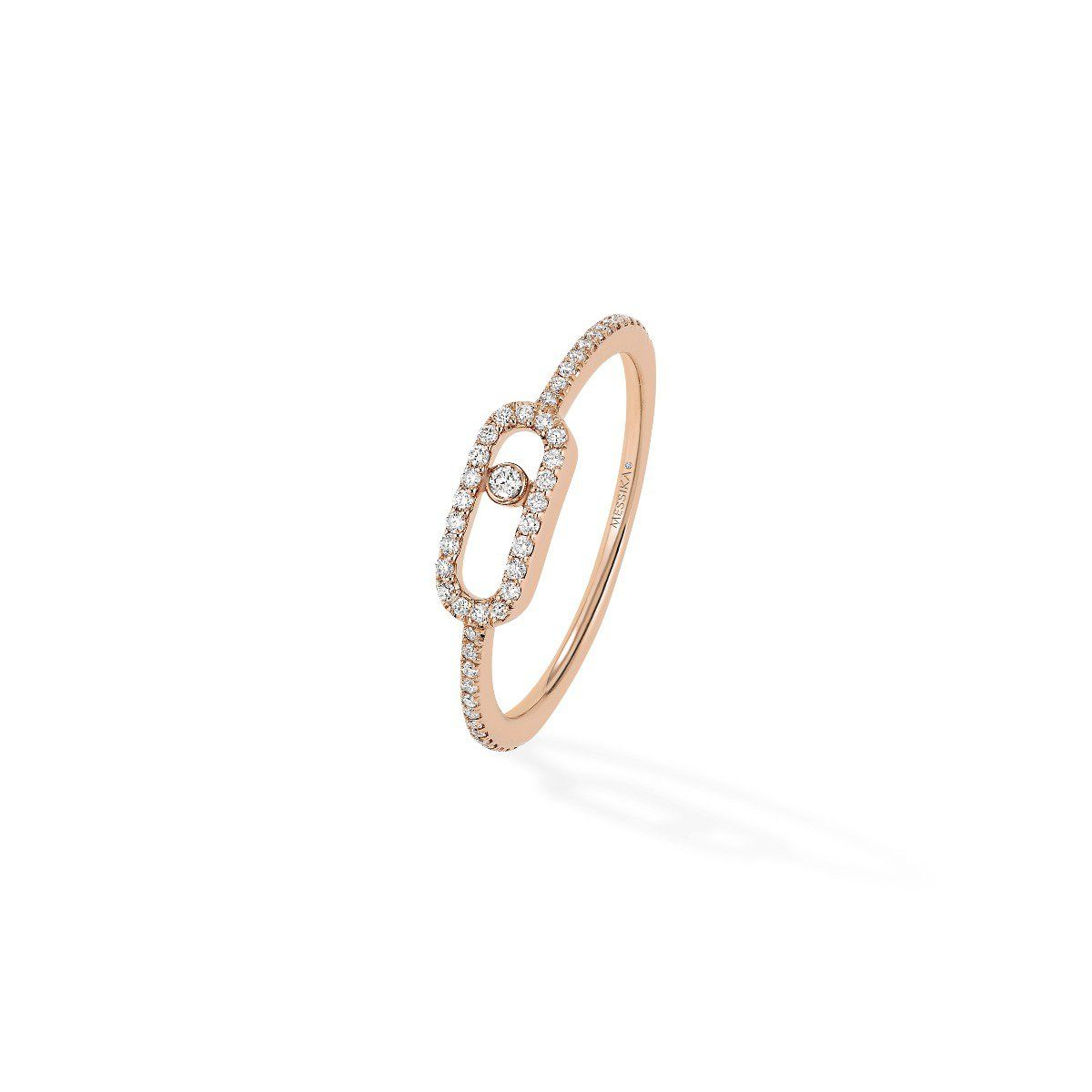 Move Uno Pavé RING - PINK GOLD