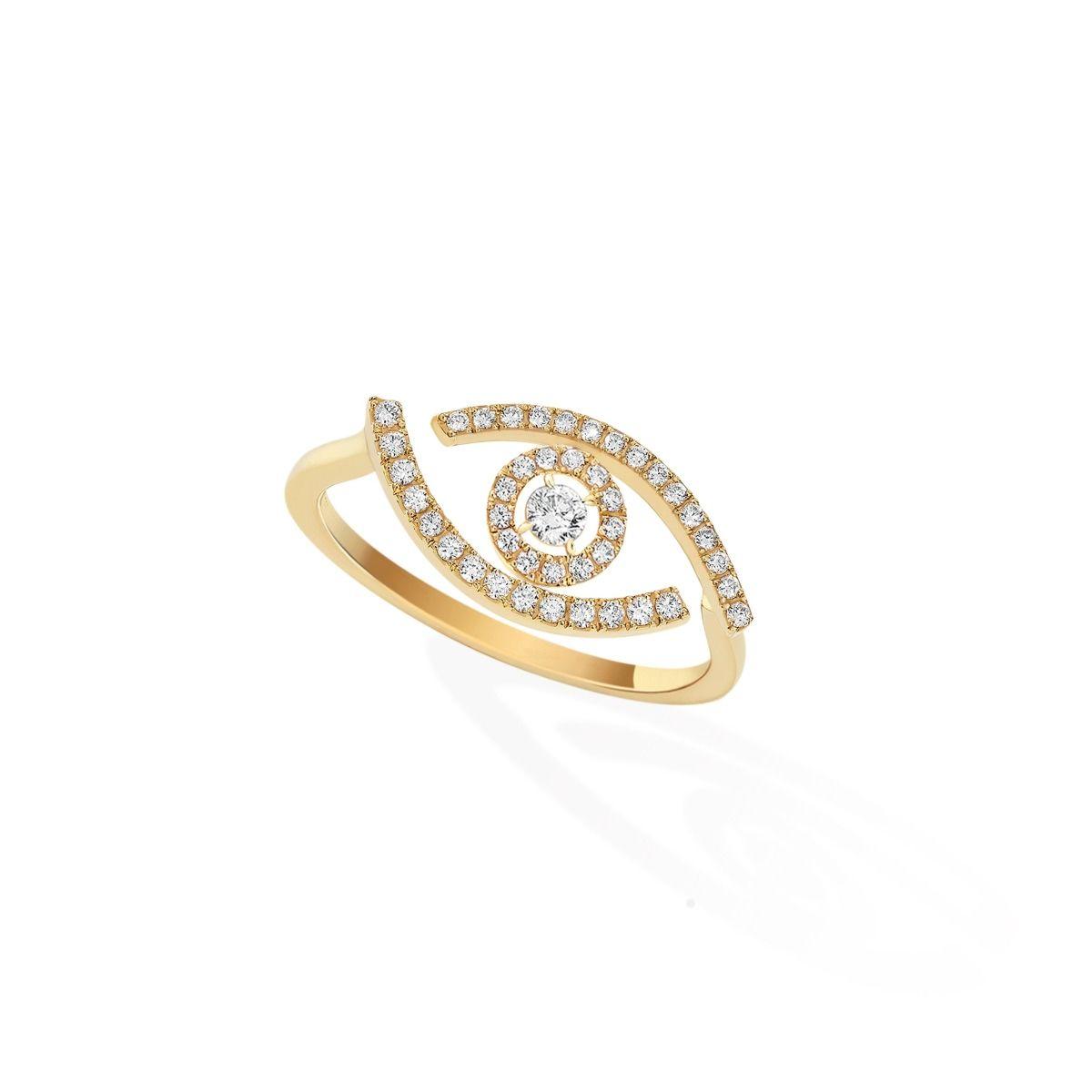 Lucky Eye Pavé RING - YELLOW GOLD