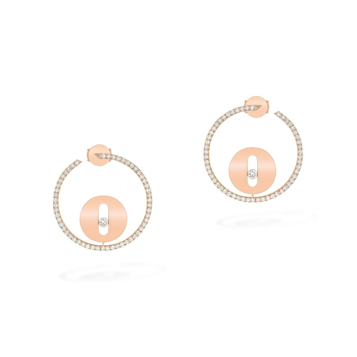 Créoles Lucky Move Pm Earrings - Pink Gold
