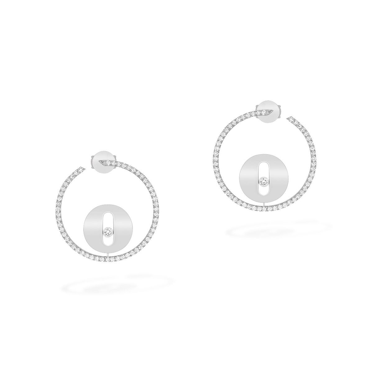 Créoles Lucky Move Pm Earrings - White Gold