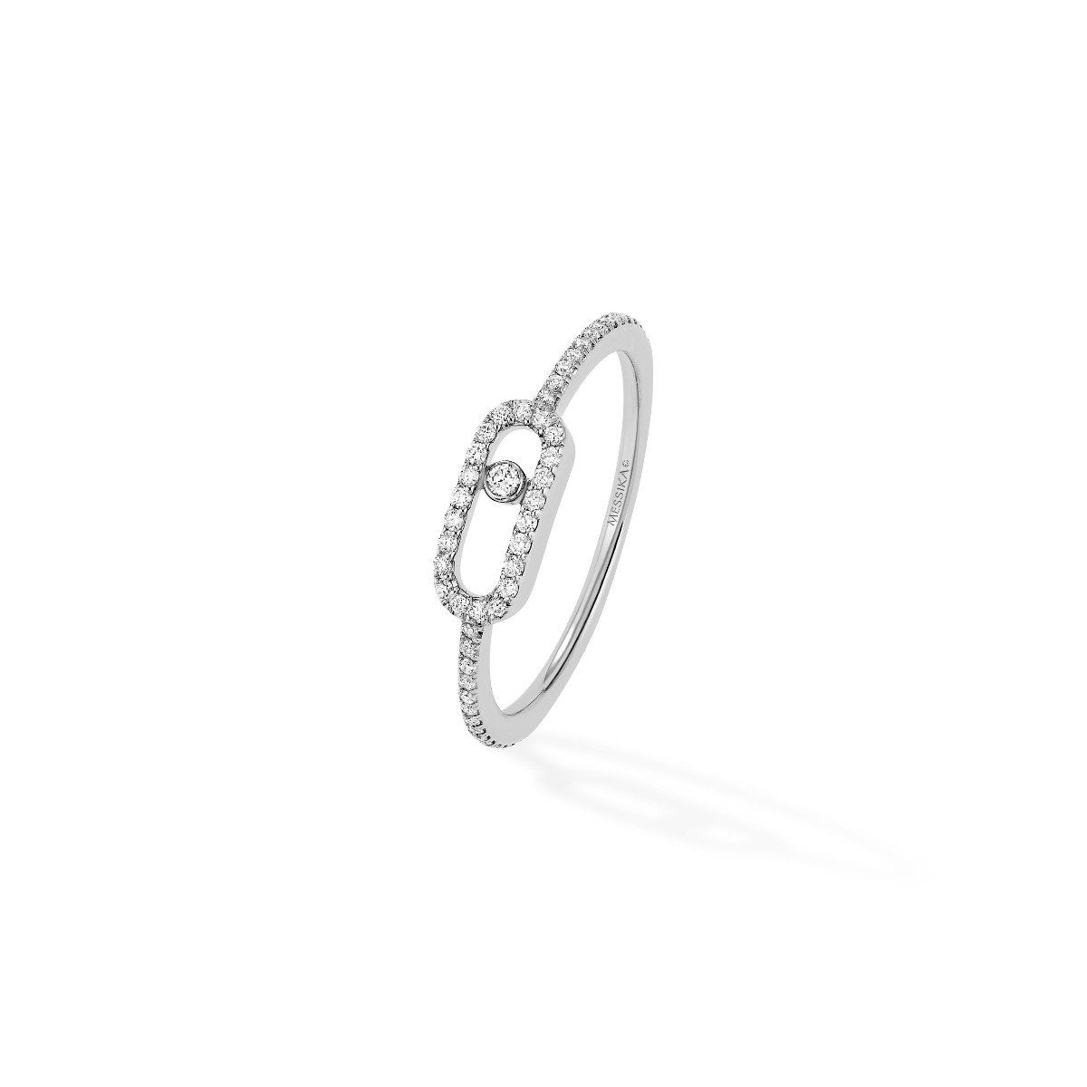 Move Uno Pavé Ring - White Gold