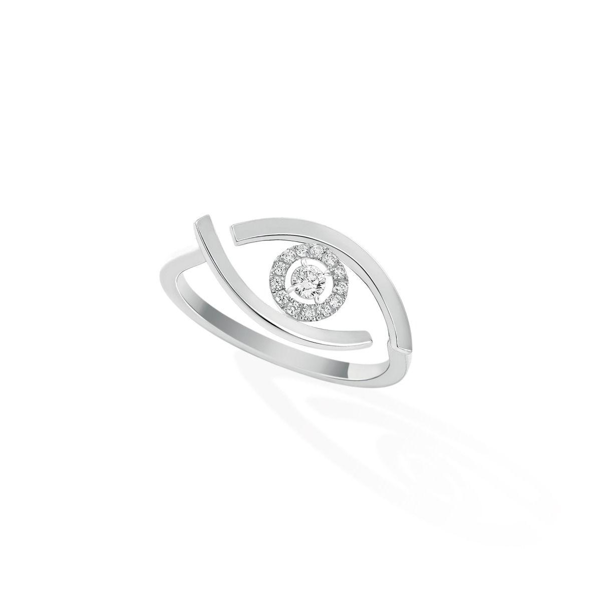 Lucky Eye RING - WHITE GOLD