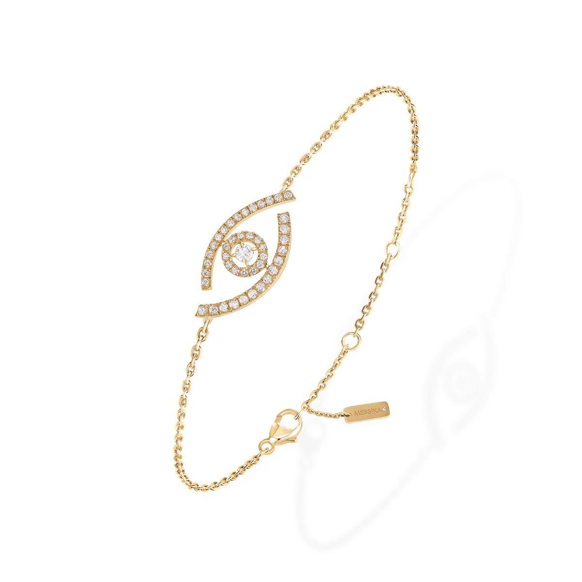 Lucky Eye Pavé BRACELET - YELLOW GOLD