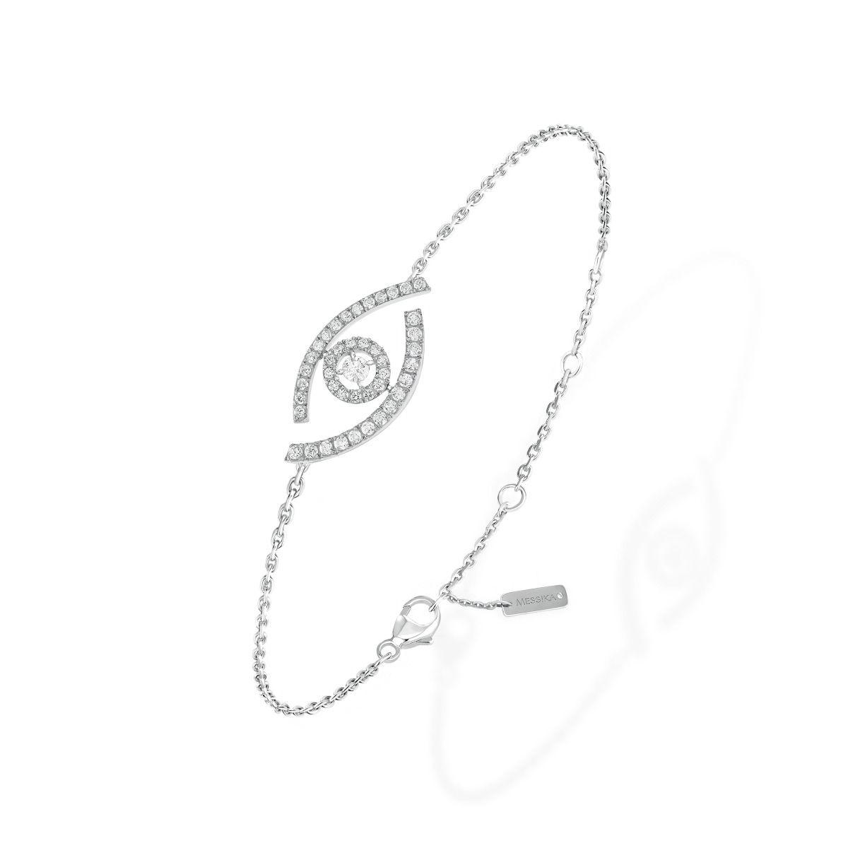 Lucky Eye Pavé BRACELET - WHITE GOLD