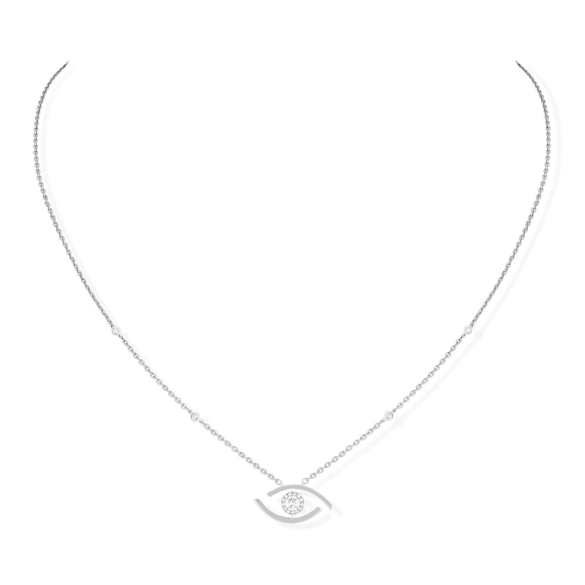 Lucky Eye Necklace - White Gold