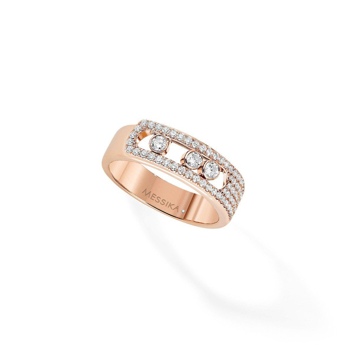 Move Noa Pavé Ring - Pink Gold
