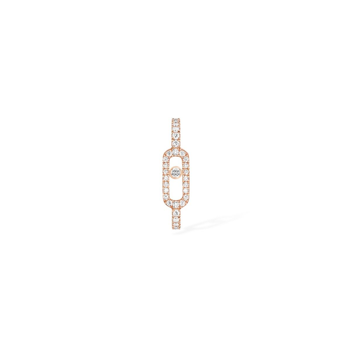 Move Uno Pavé Mono Earring Earrings - Pink Gold