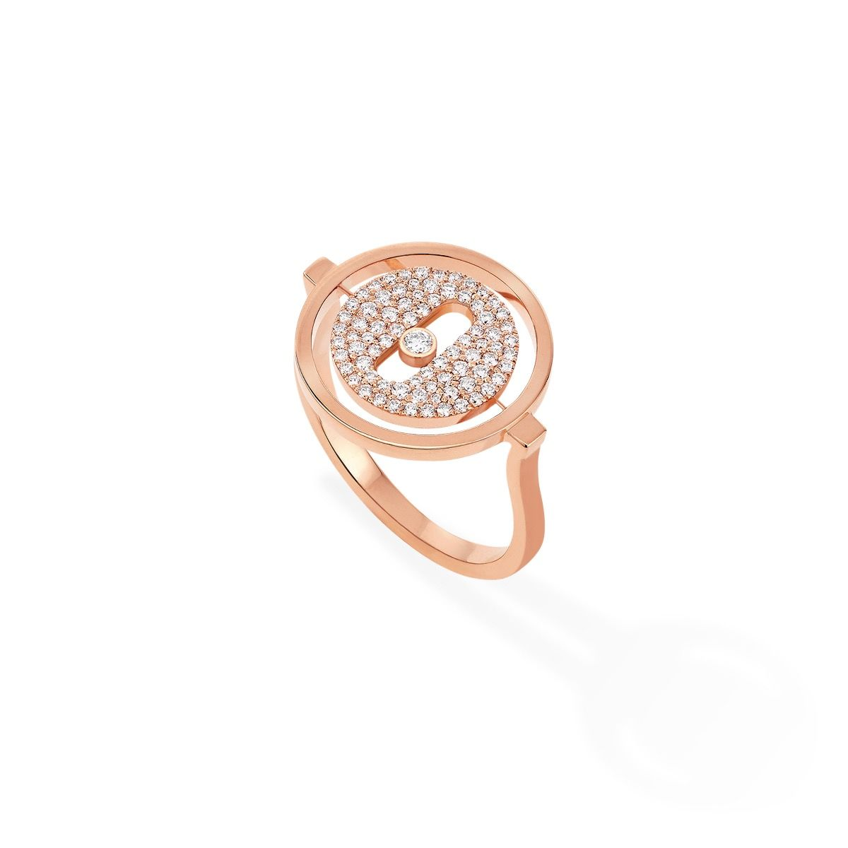 Lucky Move Pavée Pm Ring - Pink Gold