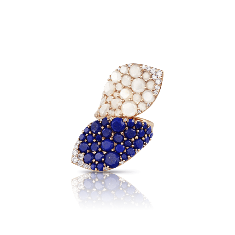 Ring Lakshmi Lapis Lazuli, Moonstone
