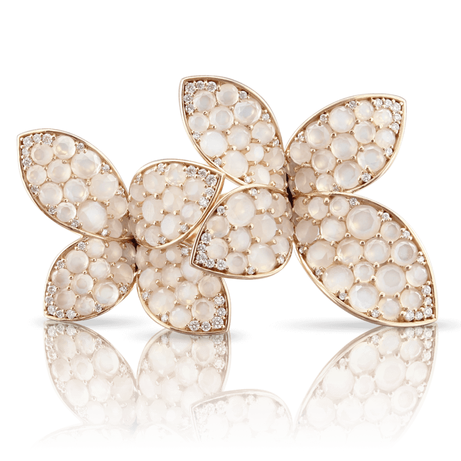 Ring Segreti di Luna with Moonstone and Diamonds