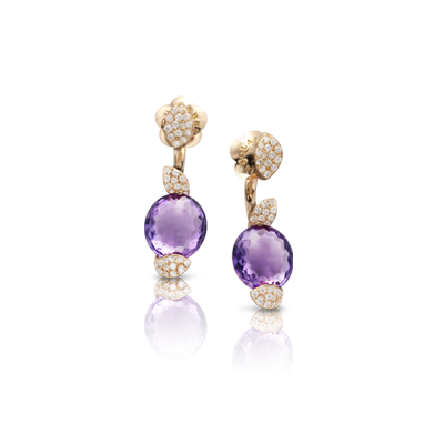 PETIT SECRET EARRINGS WITH AMETHYST AND DIAMONDS