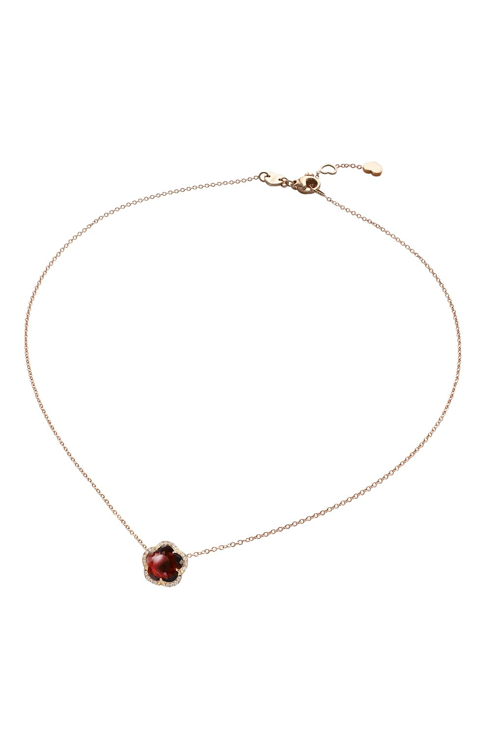 Necklaces Je T'aime with Red Garnet
