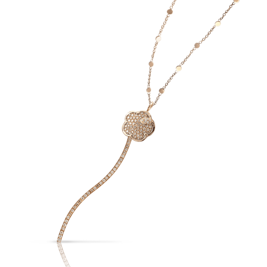 Necklaces Joli rose gold diamonds
