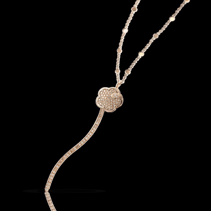 Necklaces Joli rose gold diamonds