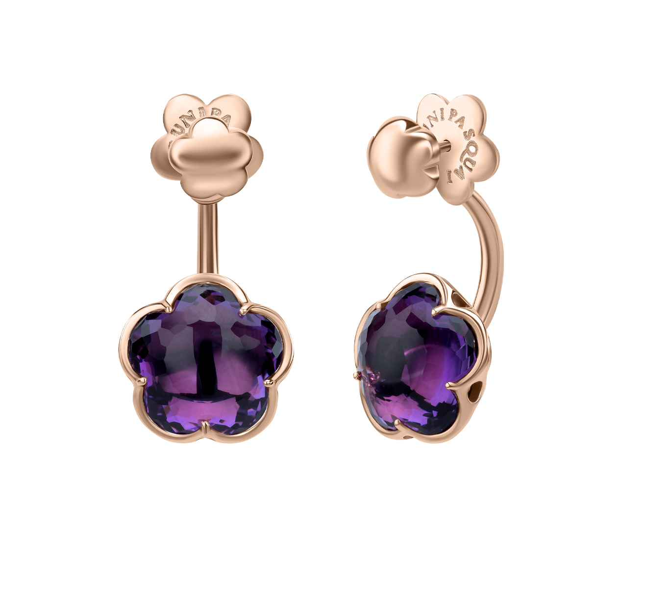 BON TON EARRINGS WITH DEEP VIOLET AMETHYST