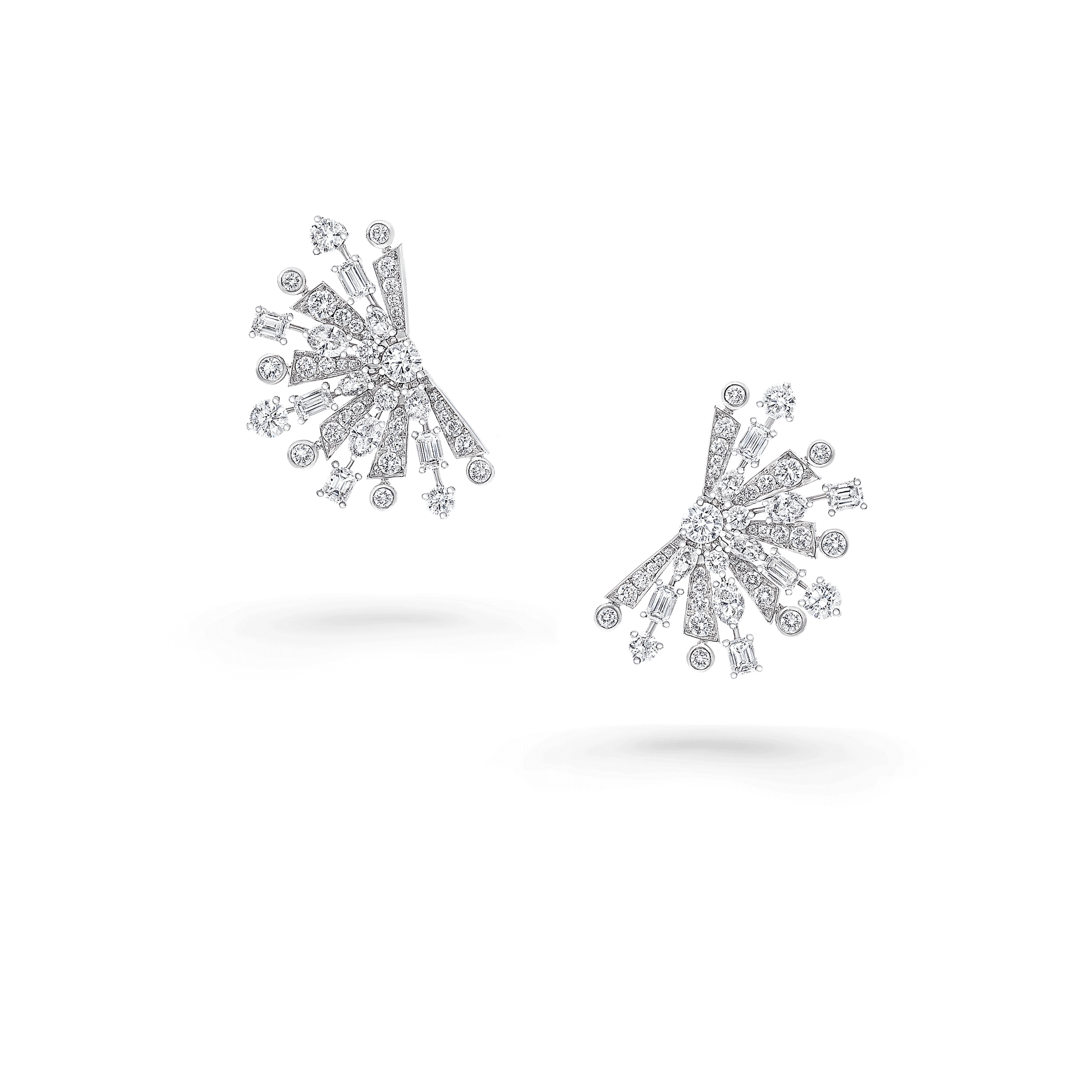 Earrings Solar Multi-Shape Diamonds
