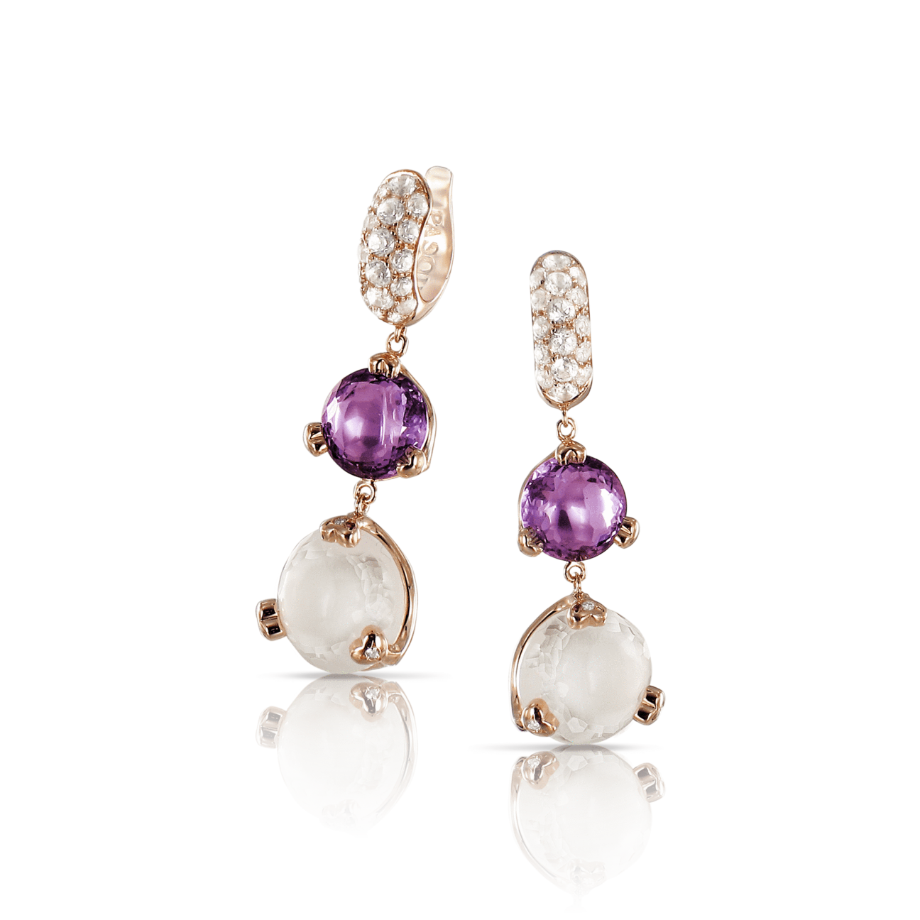 Sissi Earrings With Amethyst