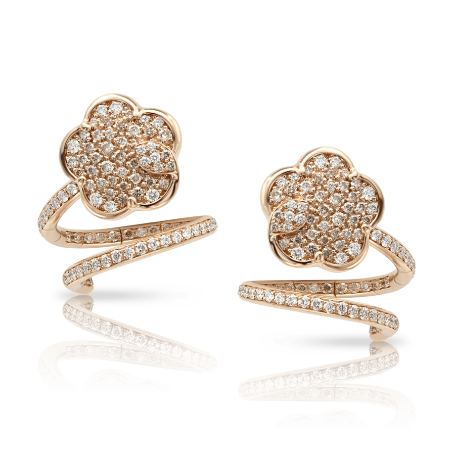 Earrings Joli rose gold diamonds