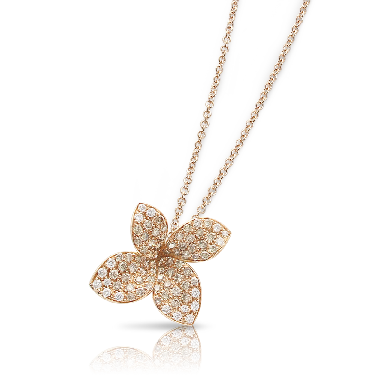 PETIT GARDEN NECKLACE WITH WHITE AND CHAMPAGNE DIAMONDS