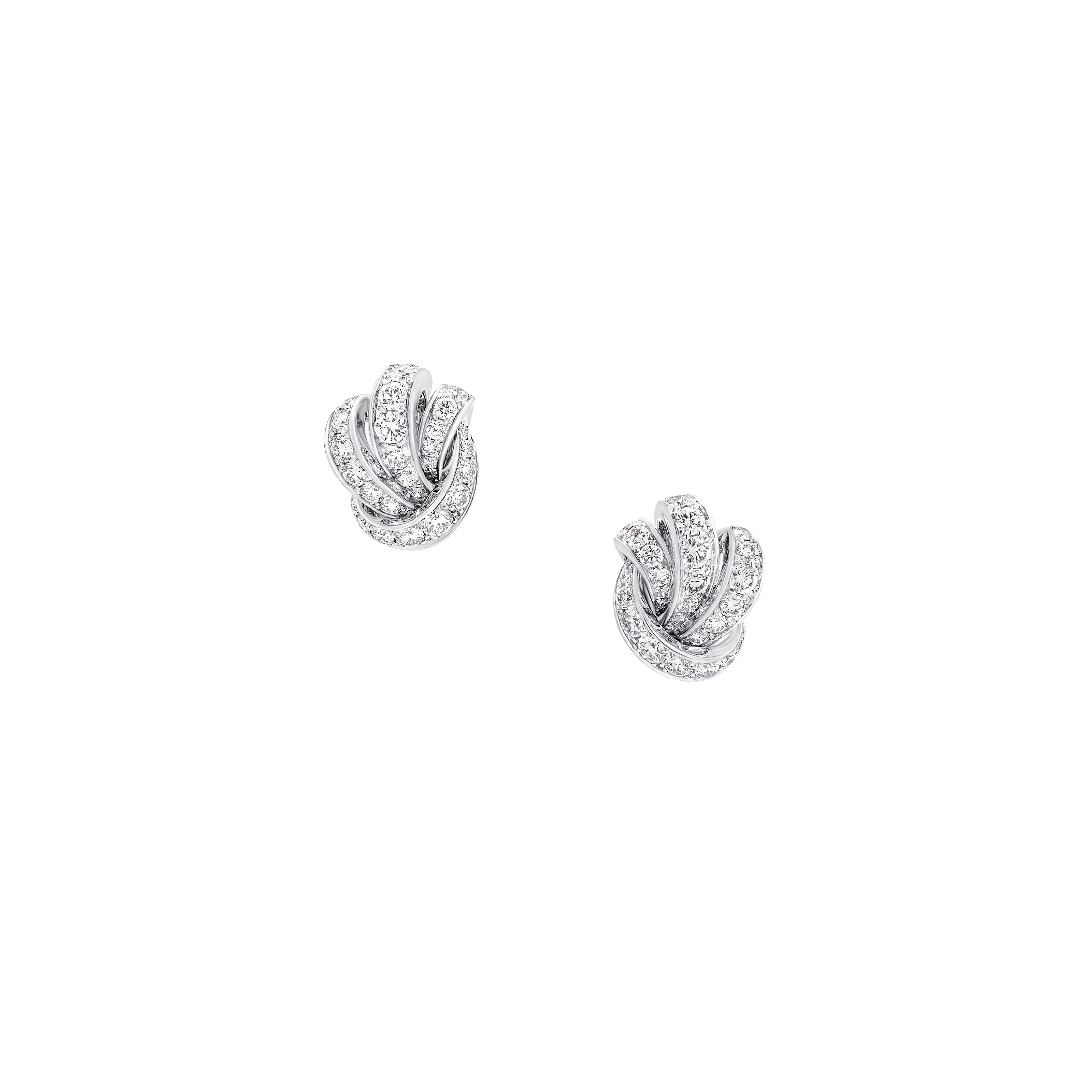 Earrings Pavé Diamond Knot