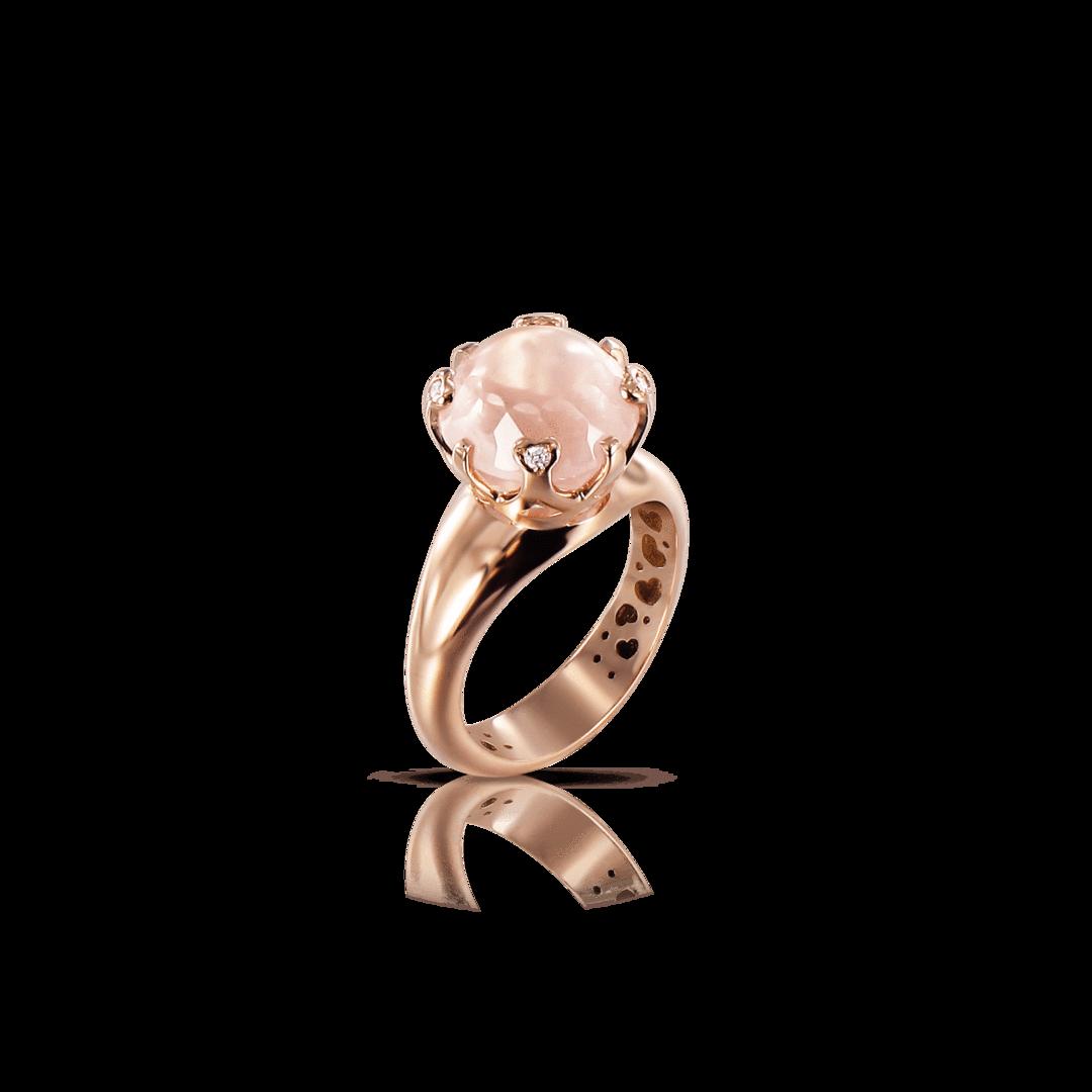 Sissi Ring With Rose Quartz