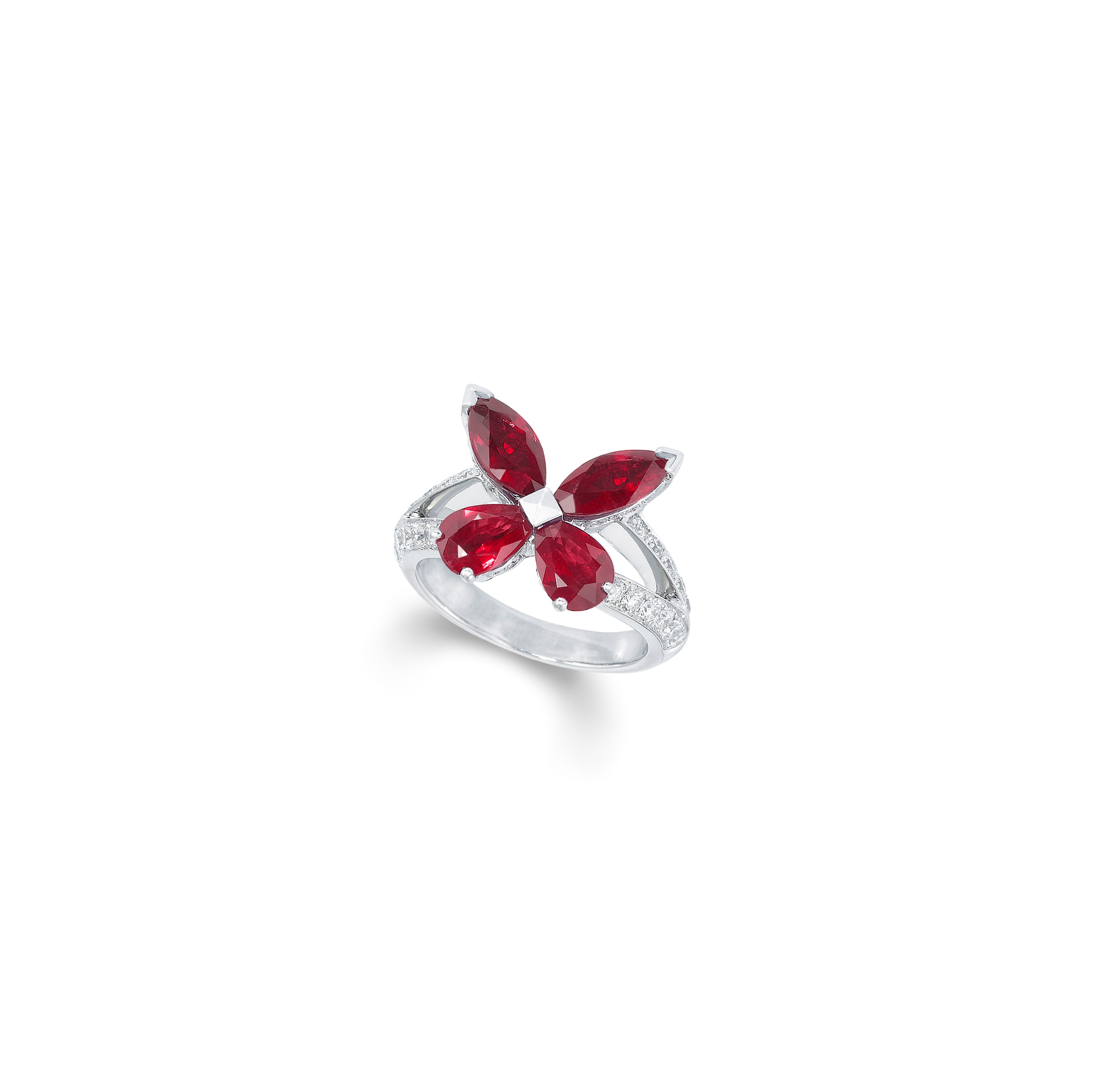 Ring Butterfly Ruby