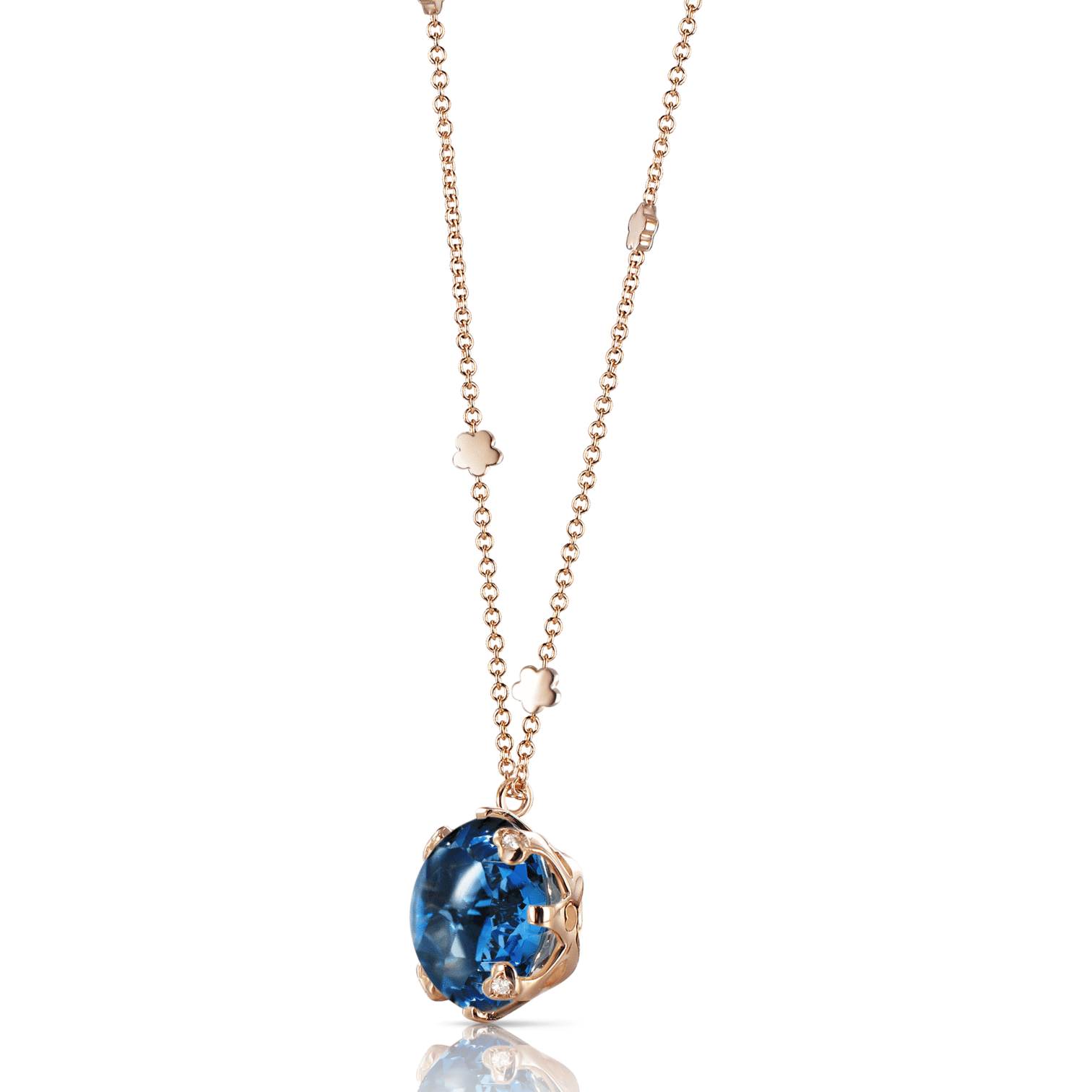 Sissi Necklace With London Blue Topaz