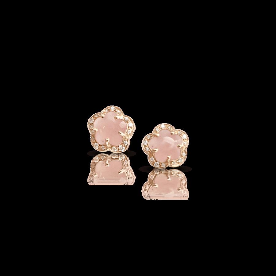 Earrings Figlia Dei Fiori Pink Chalcedony