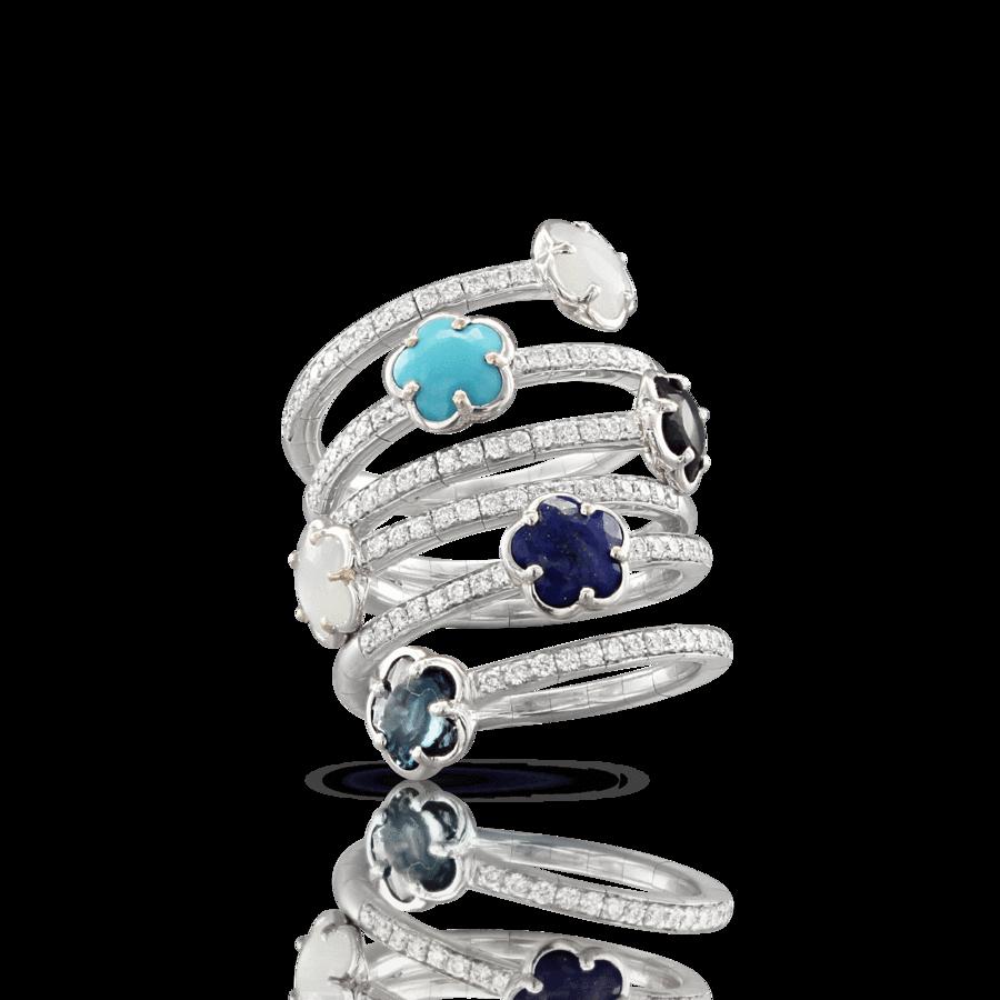 Ring Figlia Dei Fiori blue