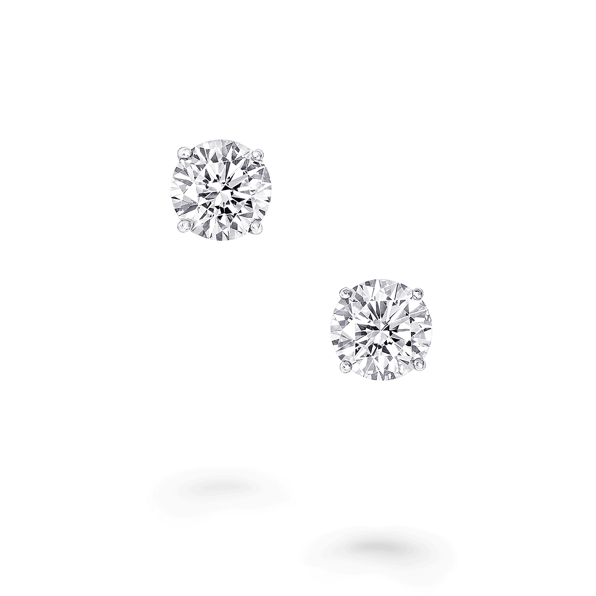 Earrings Round Diamond Stud