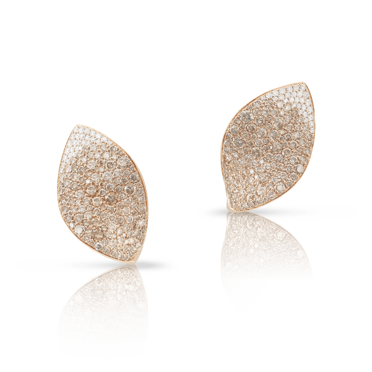 GIARDINI SEGRETI EARRINGS WITH WHITE AND CHAMPAGNE DIAMONDS