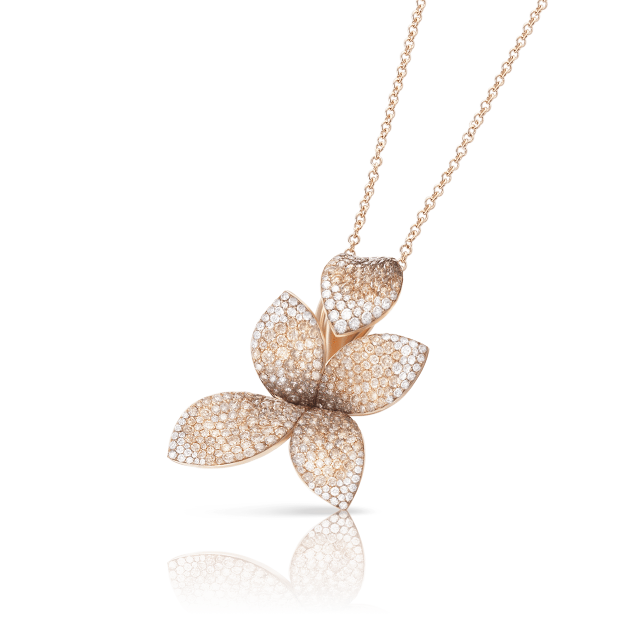 GIARDINI SEGRETI NECKLACE WITH WHITE AND CHAMPAGNE DIAMONDS