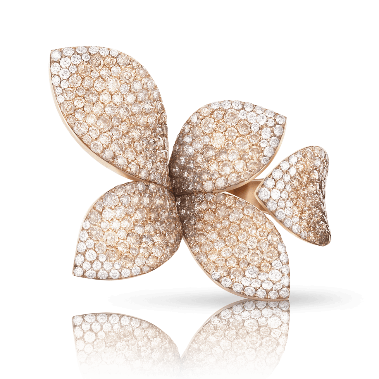GIARDINI SEGRETI RING WITH WHITE AND CHAMPAGNE DIAMONDS