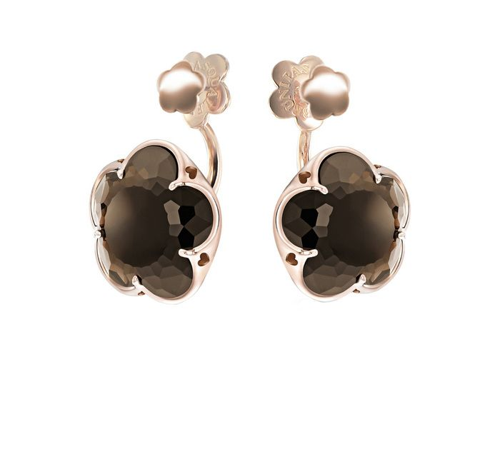 BON TON EARRINGS WITH SMOKY QUARTZ